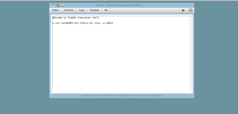 Wendelin-ERP5 Shell SSH