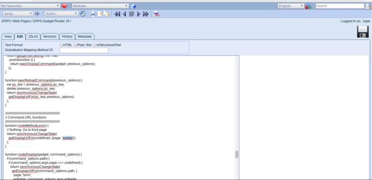 Wendelin-ERP5 - Update Default Gadget