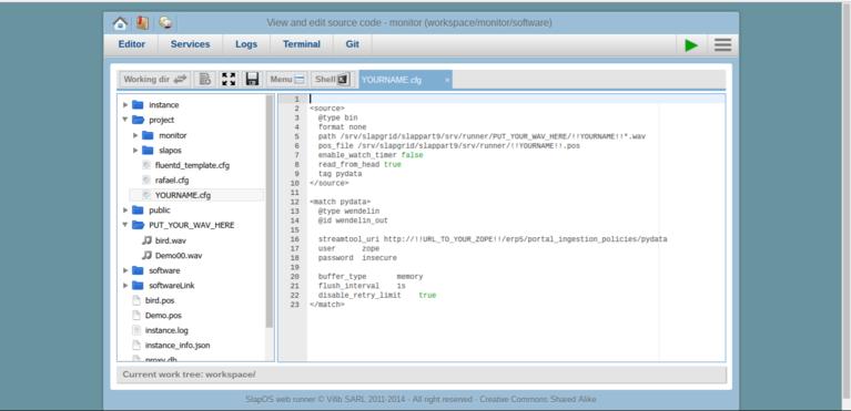 Wendelin-ERP5 Webrunner FluentD Configuration